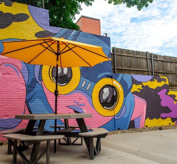 A Hebru Brantley mural
